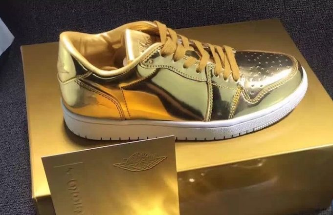 Air Jordan 1 low pinnacle gold 2
