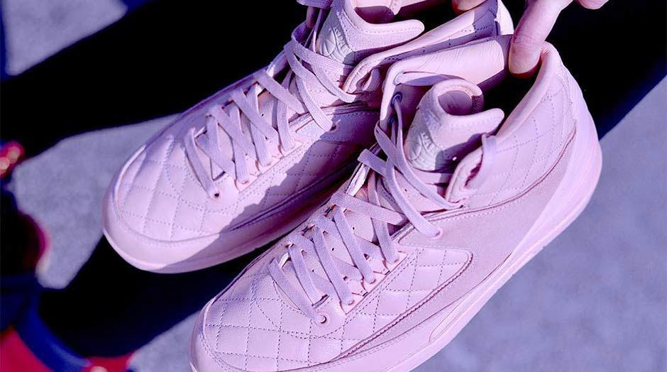 Just Don X Air Jordan 2 Pink 3